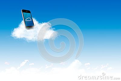 Phone on the cloud, for cloud computing concept and business