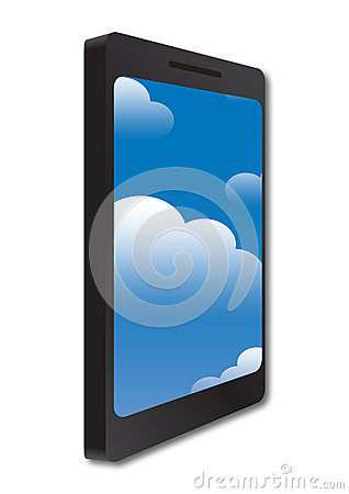 Phone and cloud concept