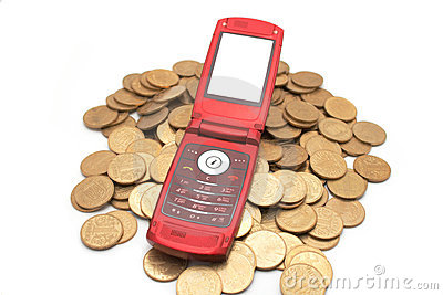 Phone on coins