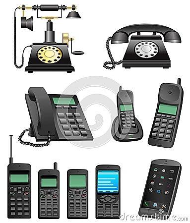 Free Phone Evolution Stock Image - 25449561