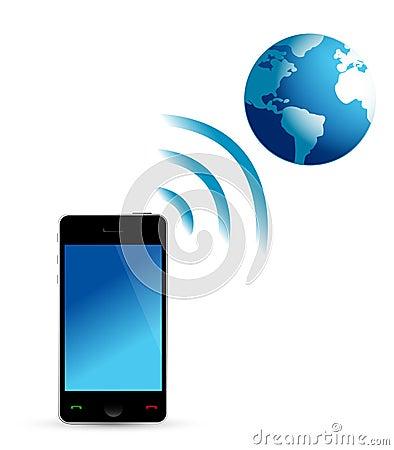 Phone and globe wifi