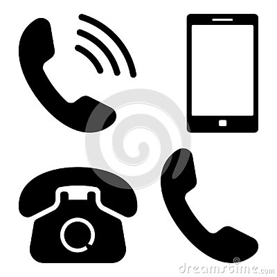 Free Phone Icon. Vector Illustration Stock Images - 139206634
