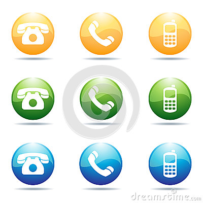 Free Phone Icons Stock Images - 24684404