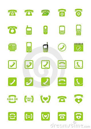 Free Phone Icons Royalty Free Stock Images - 4448159