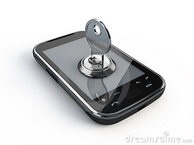 Phone with key