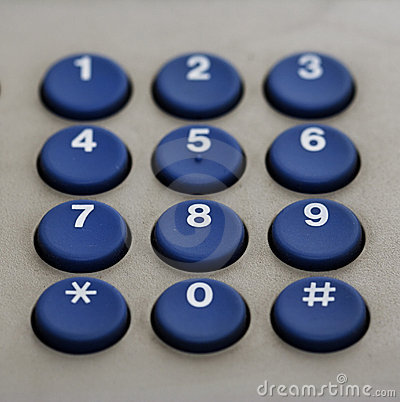 Phone keypad numbers