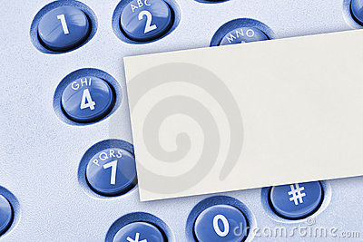 Phone keypad and paper card