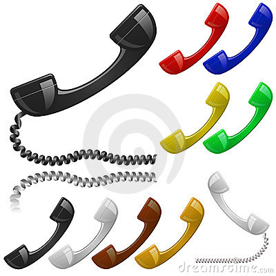 Free Phone Receiver Set Stock Photo - 13018490