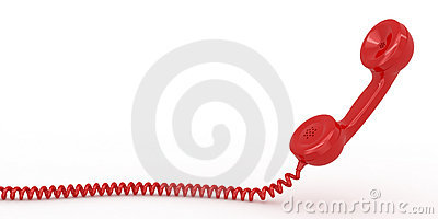 Phone reciever on white isolated background