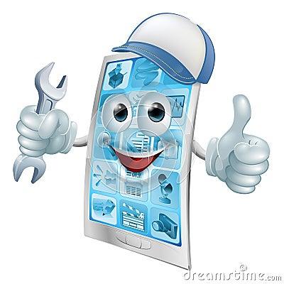 Free Phone Repair Cartoon Character Stock Image - 45677951