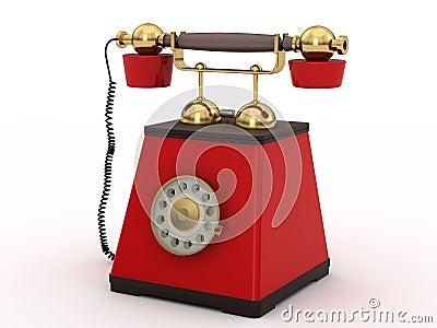 Phone in retro style