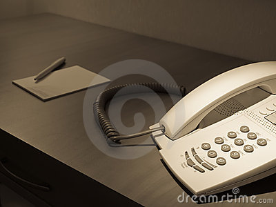 Phone on the room desk
