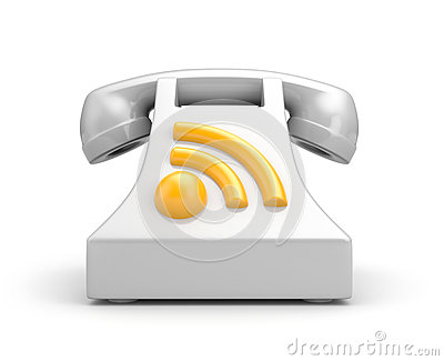 Phone with RSS symbol