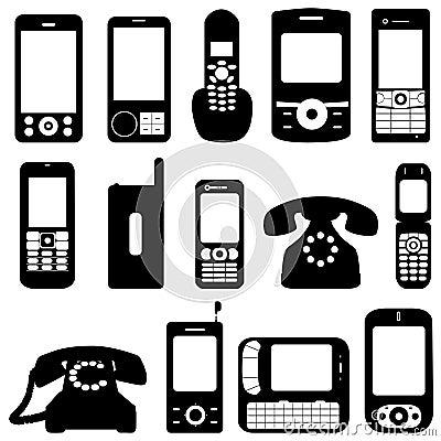 Telephone free vector