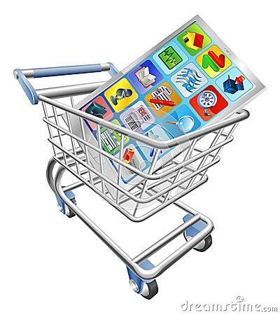 Phone in shopping cart