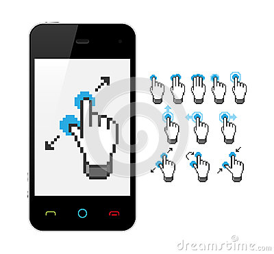 Phone with touch screen gestures