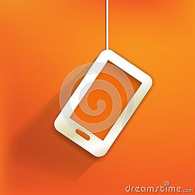 Phone web icon,flat design