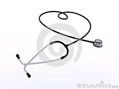 Phonendoscope forms heart shape