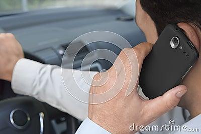 Phoning car driver