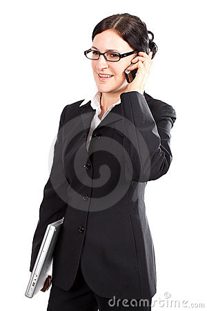 Phoning female manager
