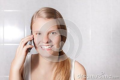 Phoning girl
