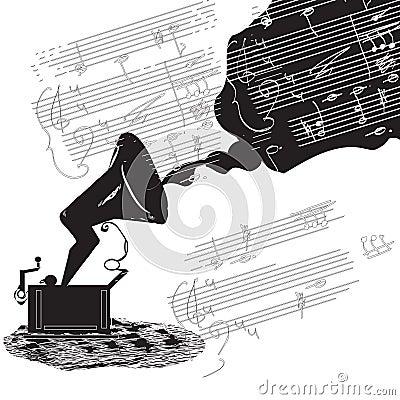 Phonograph sketch