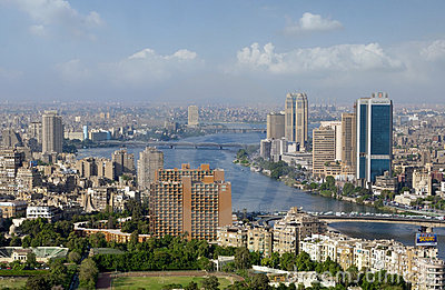 Photo of Cairo skyline, Egypt Editorial Stock Image