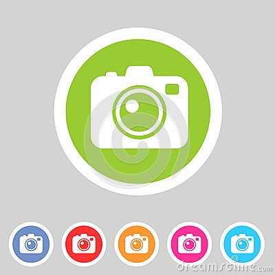 Free Photo Camera Flat Icon Royalty Free Stock Photography - 43661287