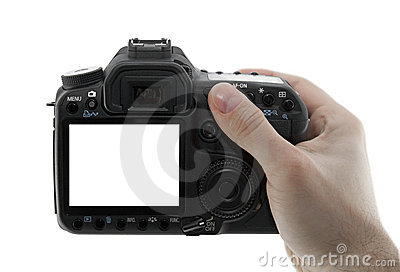 Photo camera in hand