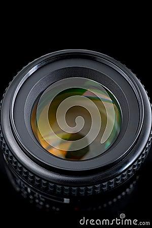 Photo camera lens.