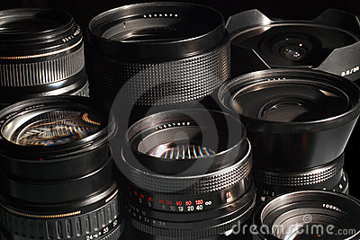 Photo camera lenses.