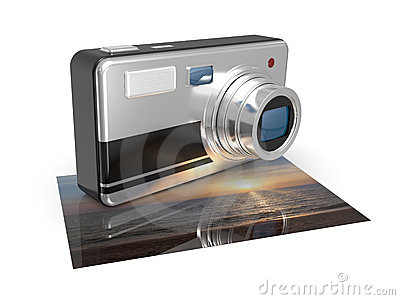 Photo camera with photos