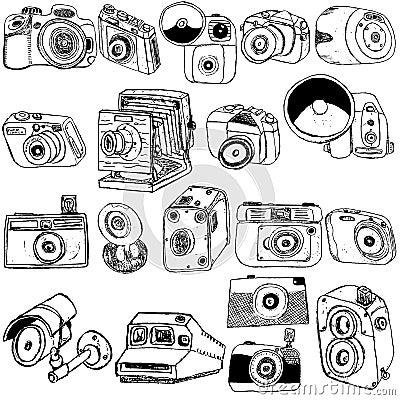 Photo camera sketch