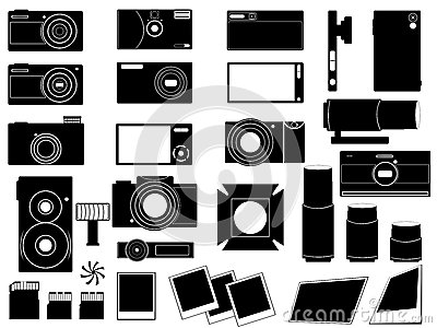 Photo cameras and stuff for photography