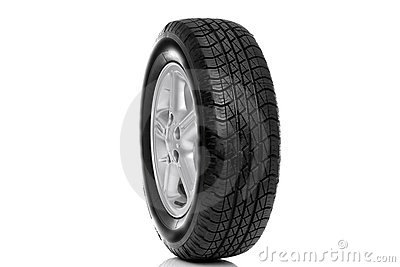 Photo of a car tyre (tire) isolated