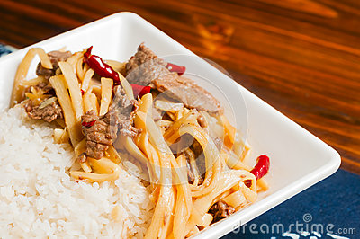 Beef  and bamboo shoots