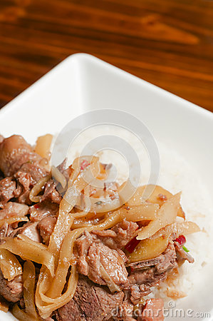 Duck meat and bamboo shoots