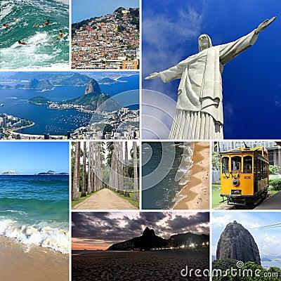 Free Photo Collage Of Rio De Janeiro, Brazil. Southamerica. Royalty Free Stock Image - 117902446