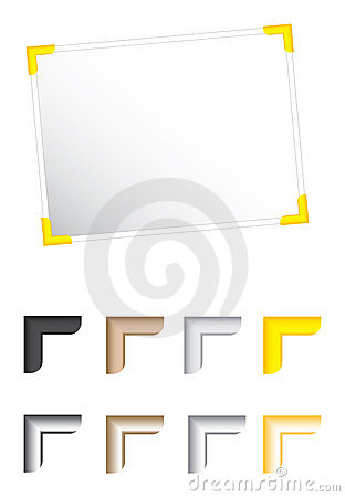 Photo corners illustration vec