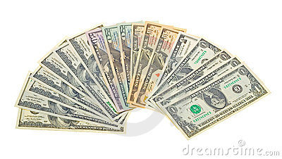 Photo of different banknotes US dollars