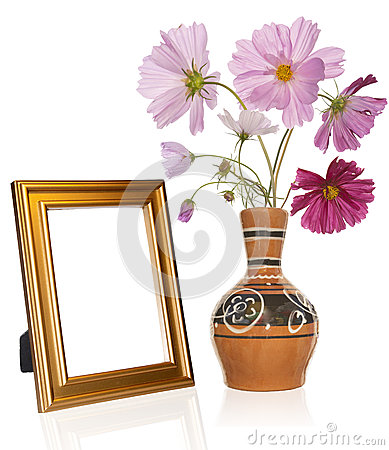 Photo frame and antique vase