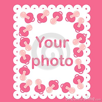 Photo frame for baby with nipples