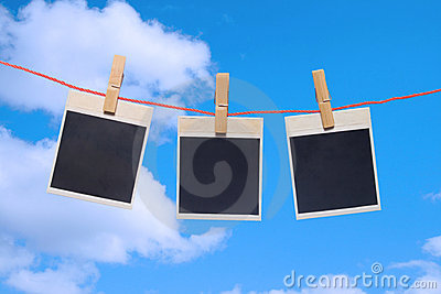 Photo frame the blue sky.