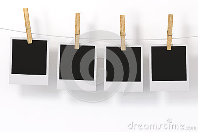 Photo Frame with clothespin