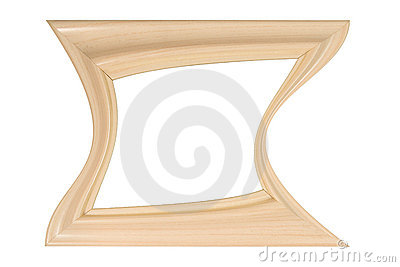 Photo frame of a curved shape