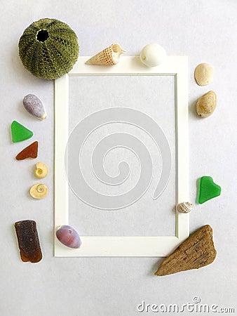 Free Photo Frame, Sea Shore Beach Theme Royalty Free Stock Photo - 29375705