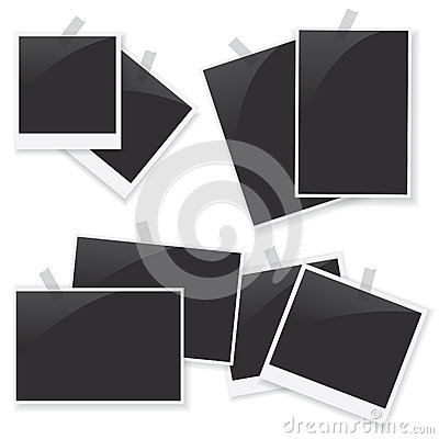 Photo frame set illustration