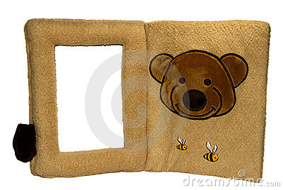 Photo frame with teddy bear and t