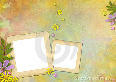 Photo frames on the abstract background