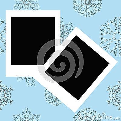 Photo Frames on Winter christmas